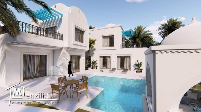 Villa de charme avec piscine à vendre à Djerba Midoun