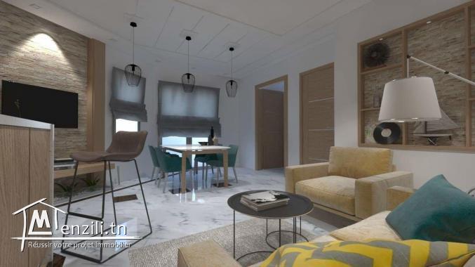 Un joli appartement s+1 a vendre a Monastir Skanes