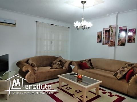 Etage de villa à louer en S+2 meublé à Hammamet Centre