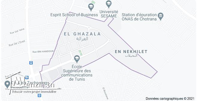 Une maison à louer à El Ghazela