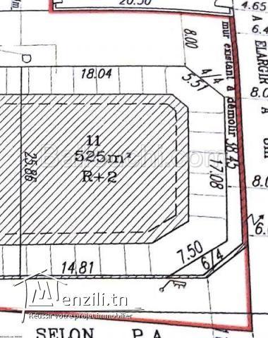 Terrain à vendre de 525 m²
