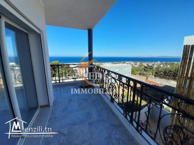 Réf 1459: étage de villa avec belle vue de mer,corniche Bizerte
