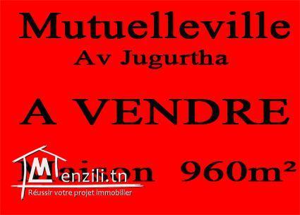 960m2 Mutuelleville Avenue jugurtha