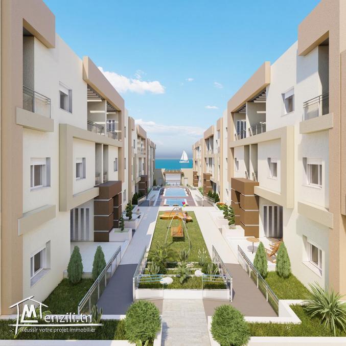 Villas et Duplex haut standing A VENDRE : Résidence TILEL vue de mer à Chott Meriem, Sousse