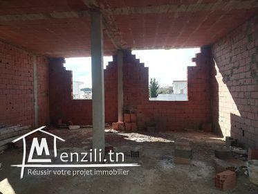 للبيع منزل في طورالبناء في شط القبلي الهواريه