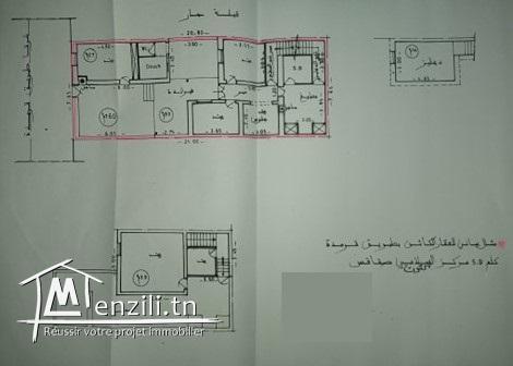 Vente Villa à Sfax Rue Gremda 5Km markez Sallemi