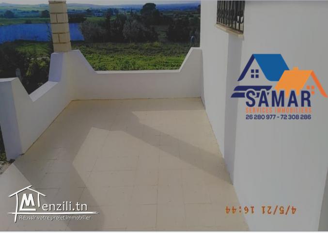 maison s+4 de 140 m² sur un terrain de 2000 m² a tamozrat kelibia