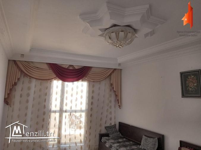 """une maison avec studio  à cite """" leksiba""""  mosquée   """"BILEL"""" kélibia"""