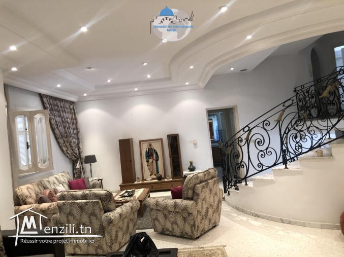 villa style américain à Sahloul sur un terrain de 436 m2