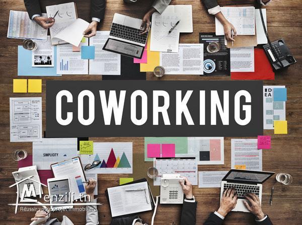 un espace de coworking : une salle bien équipée