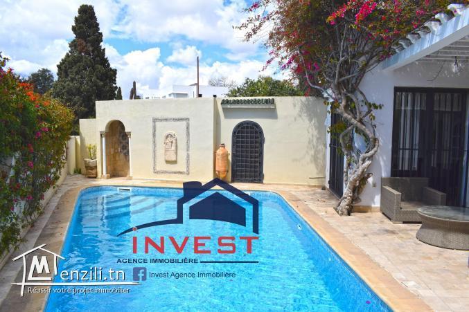 Villa avec piscine et jardin à Carthage