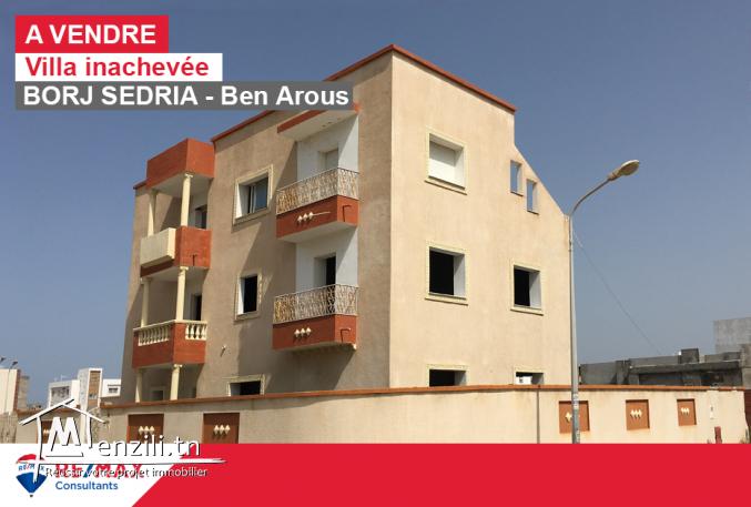 Villa inachevée près de Carrefour Borj Sedria
