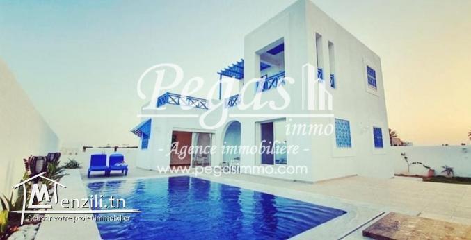A Louer, Une Villa De Luxe Moderne Avec Piscine À Djerba-La Zone Touristique