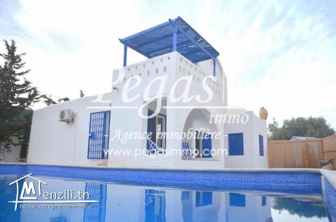 A louer, Une charmante maison avec piscine à Djerba-la zone touristique
