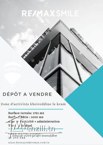A vendre dépôt à la zone d'activité le Kram