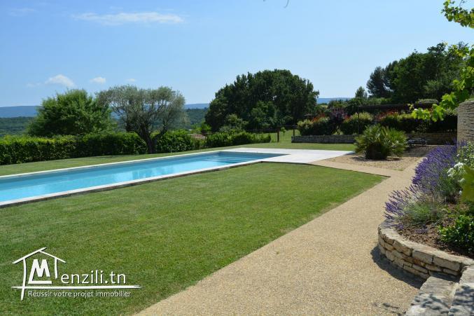 A Vendre ferme de 4 Ha avec villa et piscine à Béja