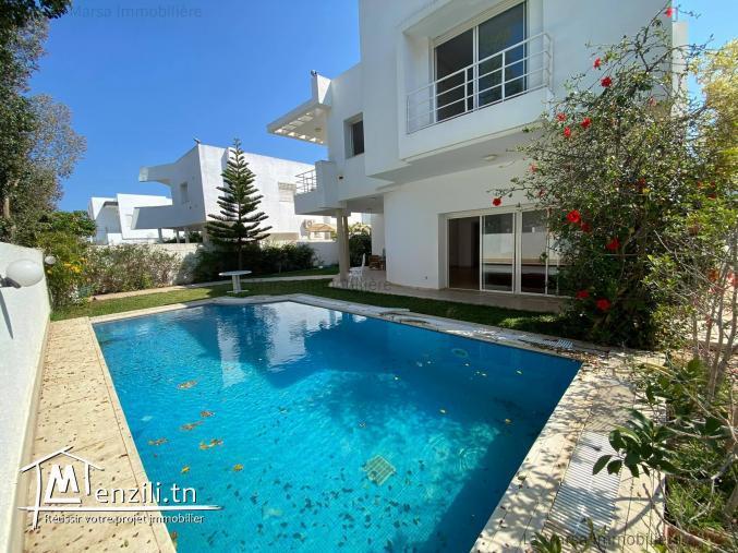 A Vendre villa s5 avec piscine et jardin à Hammamet