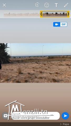 terrain 1ere position  vue sur mer sur la route marsa aeroport djerba