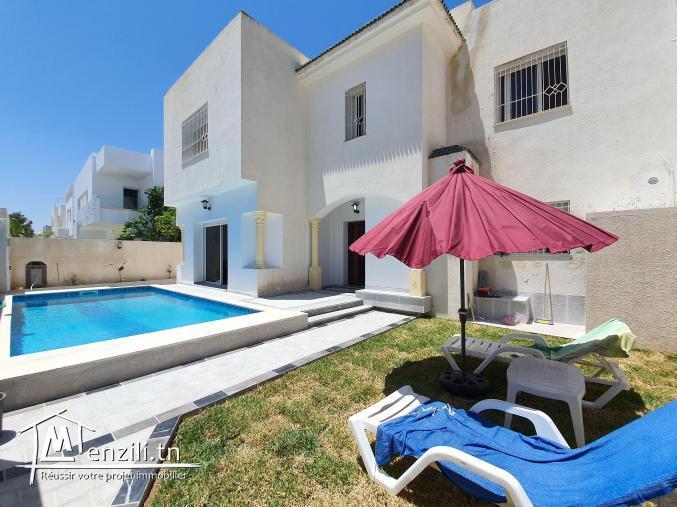 villa s+4 meublée de 347m² à Yasmine Hammamet