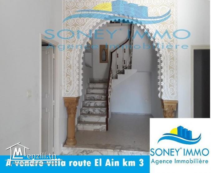 Villa route El Ain km 3 en deux étages