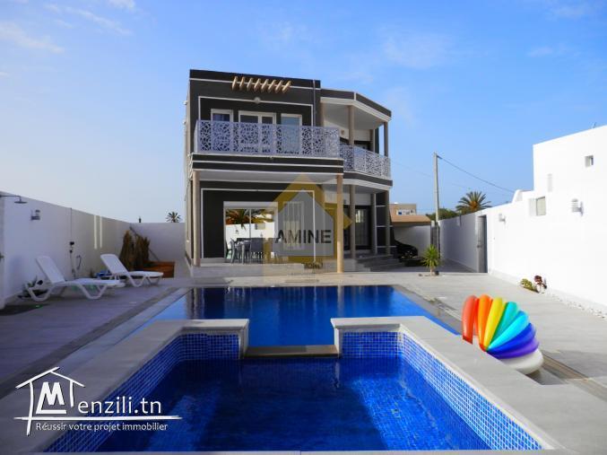 Villa avec piscine location de vacance Route de phare Midoun