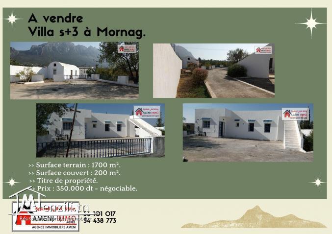 A vendre belle villa s+3 à djebal ressas - Mornag.