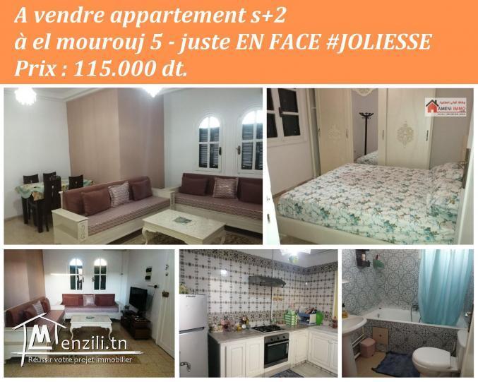 ???? A vendre appartement s+2 à El Mourouj 5.