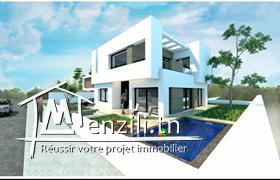 Une villa S+5 haut standing d'une surface de 360m2 sis à cité el Ons Sfax