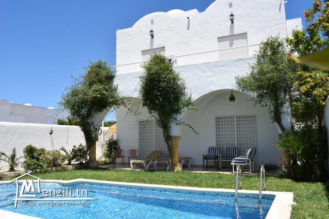 Villa S+3 non meublée de 160m² bâti sur un terrain de 350m² à Hammamet Nord