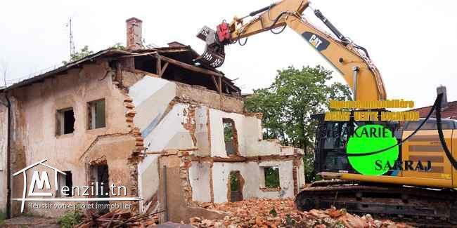Petite Maison à démolir  à Khzema Ouest Prés Hamadi Abid