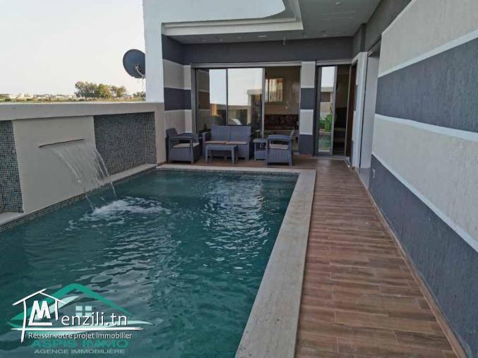Maison S+2 avec piscine à 800 mètres de la plage DAR ALLOUCH