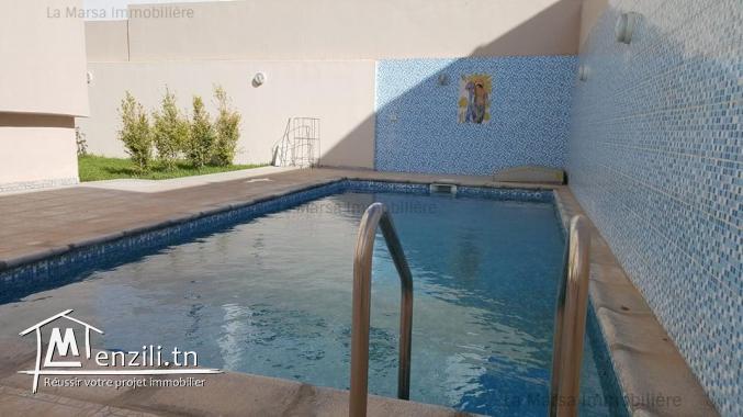 A Louer une villa s6 avec piscine et jardin au Jardin de Carthage