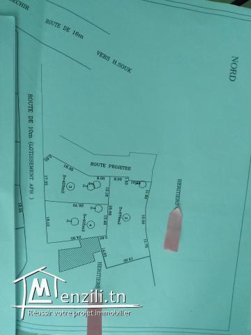 Terrain  de 679 m2 a vendre a jerba