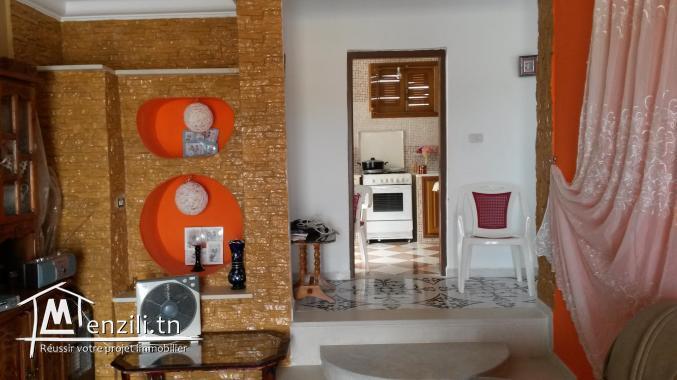 Etage Villa à Degache 9 km de Tozeur vue oasis