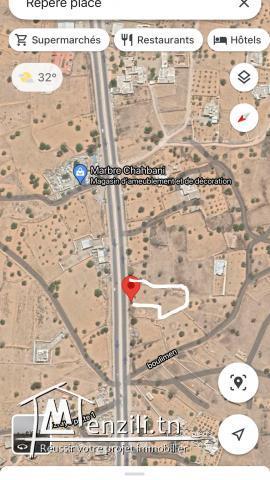Terrain Djerba autoroute Houmet Souk midoun