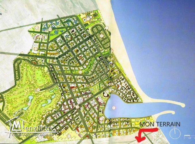 terrain a vendre pres projet Tunisia Bay