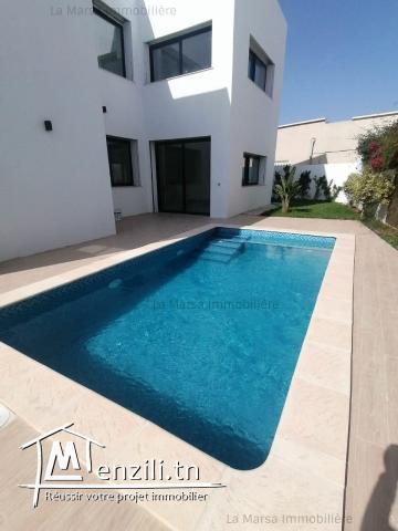 A Vendre villa s4 avec piscine et jardin à La Soukra