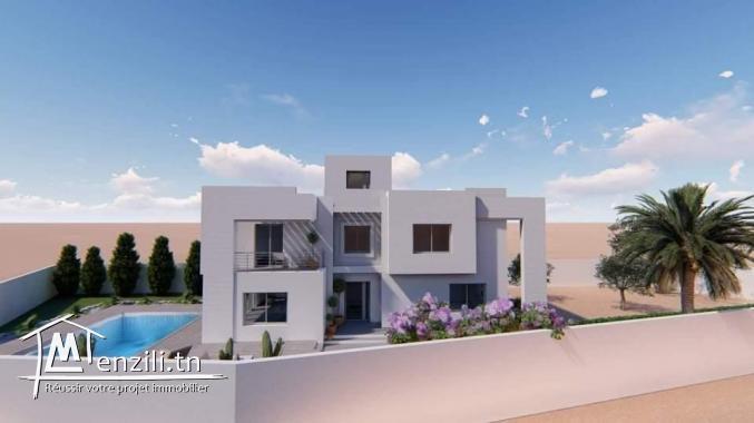 Maison d'architecte 04 suite titre bleu et vue mer