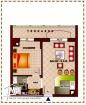 Appartement S+1 de 58 m² à AFH Mrezgua – NV1069